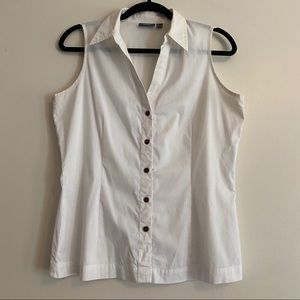 Mexx White Sleeveless Button Down Shirt/Top Sz 40